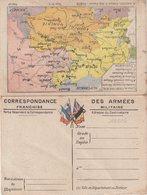 """FRANCE : CORRESPONDANCE DES ARMEES . FM . CARTES . """" N° 3 . AISNE ET CHAMPAGNE """" . - Postmark Collection (Covers)"""