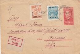 1950 YUGOSLAVIA SLOVENIA BAHNPOST TPO RAILWAY CANCEL LJUBLJANA-BEOGRAD 3 - Slovenië