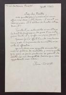 MINOU DROUET - Poétesse Prodige - Belle Lettre Autographe Signée - 1965 - Autografi