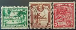 BRITISH GUIANA 1934 - Canceled - Sc# 210, 211, 212 - Guyana Britannica (...-1966)