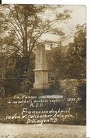 Militaria Guerre 1870 DILLINGEN Allemagne Sarre Monument Soldats Prisonniers Cachet KRIEGSGEFANGENEN LAGER Carte Ph ..G - Guerres - Autres