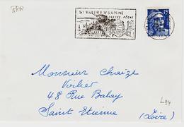 France,,secap Illustrée Avec Variété Très Rare De Saint Valery  Sur Somme   TB Et RRR Prix D'amateur - Marcophilie (Lettres)