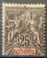 INDOCHINE 1892 - Canceled - YT 10 - 25c - Oblitérés