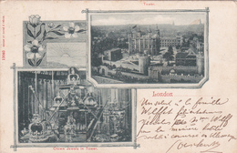 CPA  - London - Crown Jewels In Tower - Tower - 1901 - Tower Of London