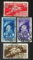 Italia Regno 1935 - 1° Salone Aeronautico Iternazionale - 4 Usati - Uni 384/387 - Italien