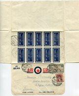 RC 14716 EGYPTE 1938 AIR GRAM COVER BY AIR MAIL PAR AVION PORT SAID / SIMON ARZT TO FRANCE - LETTRE - Ägypten