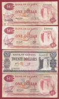 Guyana 4 Billets Dans L 'état Lot  (66) - Guyana
