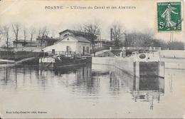 ROANNE - L'Ecluse Du Canal Et Les Abattoirs - Roanne