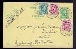 CP 79 + 194 +  200 X 2 De St Gilles ( Bruxelles ) 18 VIII 1927 Vers Sittard Limbourg Hollandais - Entiers Postaux