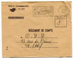 RC 14717 REUNION 1967 FLAMME ST PIERRE UNE PERLE SUR L'OCÉAN EN FRANCHISE TB - Réunion (1852-1975)