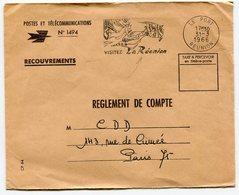 RC 14718 REUNION 1966 FLAMME LE PORT VISITEZ LA REUNION EN FRANCHISE TB - Réunion (1852-1975)