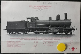 N°22) LES LOCOMOTIVES -(SUISSE) N° 109 - Treni