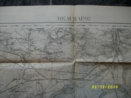 Carte Topographique De Beauraing (Sautour Surree Mesnil Wiesme Givet Baronville Wancennes Treignies) - Topographical Maps