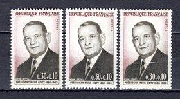 FRANCE LOT DE 3 TIMBRES DE 1964 N 1412 NEUF ** LUXE - Frankreich
