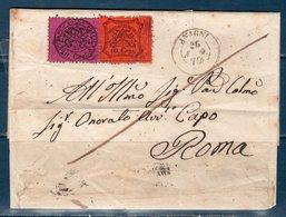 Lettera 1870 Da Anagni Per Roma  30 Cent. - Stato Pontificio