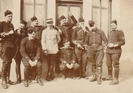Photo Mars 1915 CROISMARE - Sous-officiers Du 5ème Et 6ème Escadron, 2ème Régiment De Dragons (A216, Ww1, Wk 1) - Other Municipalities