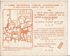 BUVARD  Ligue Nationale Contre L'Alcoolisme  Mars 1903 - Buvards, Protège-cahiers Illustrés