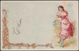Jugendstil, Frauen, C.1900 - Flittern Litho AK - Women