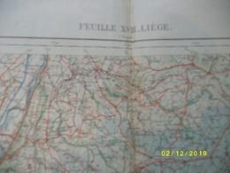 Carte Topographique De Liège - Luik (Loncin Seraing Verviers Eupen Aubel Jalhay Poulseur Harzé) - Cartes Topographiques