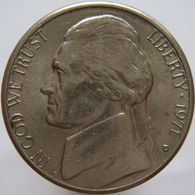 United States Of America 5 Cents 1971 D XF - Emissioni Federali