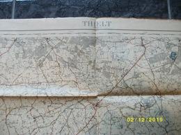 Topografische / Stafkaart Van Tielt (Zwevezele Wingene Ruiselede Poeke Leerne Deinze Pittem) - Cartes Topographiques
