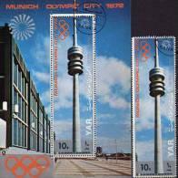 Fernsehturm München Yemen 1239+Block 145 O 8€ Olympiade 1972 Hb Architectur Ss Bloc Tele-tower Sheet Bloque Bf YAR - Yemen