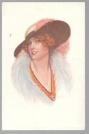 Cpa...illustrateur ...Fischer .Harrison...art Nouveau...art Déco...femme Avec Chapeau... - Fisher, Harrison