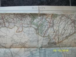 Carte Topographique De Roisin (Athis Erquennes Aulnois Havay Maubeuge Bavai ) - Cartes Topographiques