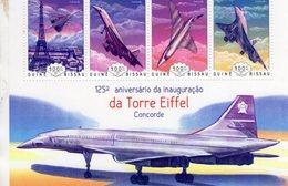 CONCORDE Et La Torre Eiffel  -   Guiné-Bissau 2014 4v Sheet Neuf/Mint/MNH - Concorde