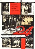 "PUB "" CIRCUIT 24 "" Avec "" JOHNNY HALLYDAY /SYLVIE VARTAN /G.BECAUD ...ect "" 1964 - Otros"