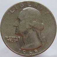 United States Of America 25 Cents 1965 XF - 1932-1998: Washington