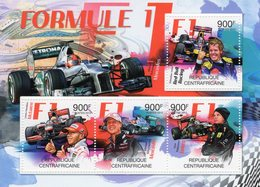 Formule 1  - Mercedes - Vettel-Hamilton-Schumacher-Raikkonen  -   Centrafricaine 2012 4v Sheet Neuf/Mint/MNH - Auto's