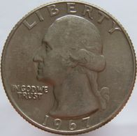 United States Of America 25 Cents 1967 XF / UNC - Federal Issues