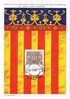 34843. Tarjeta Maxima VALENCIA 1981. Sello Recargo PLAN SUR. La Senyera - Tarjetas Máxima