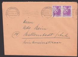 SBZ Berliner Bär Stadt Berlin 6 Pf.(2) Nach Ballenstedt  MWSt. Charlottenburg 27.11.45, Fernbrief, Portogenau - Sowjetische Zone (SBZ)