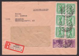 Allemagne SBZ Berliner Bär Stadt Berlin-Neukölln 5(6),  6(2) Pf. R-Brief Portogenau 19.1.46 - Zona Soviética