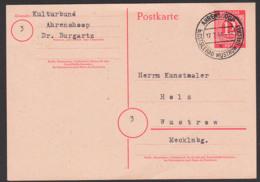 Ahrendshoop Ostseebad Wustrow Mecklenburg, 12 Pfg. Rot Ganzsache  Ziffern 17.7.46 EA P953 - Amerikaanse, Britse-en Russische Zone