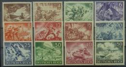 DEUTSCHES REICH 1943 - MNH - Mi 831-842 - Wehrmacht - Complete Set! - Germania