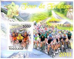 Tour De France  -  Cadel Evans  -    Togolaise 2011 1v Sheet Neuf/Mint/MNH - Cyclisme