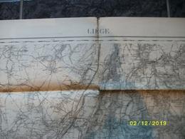 Carte Topographique De Liége - Luik (Loncin Alleur Mortroux Aubel Herve Soiron Fraipont Embourg Jemeppes) - Cartes Topographiques