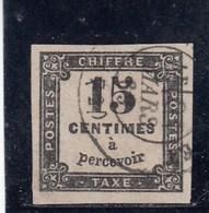 France - 1863-70 - Taxes - N°YT 3 - Oblitéré - Segnatasse
