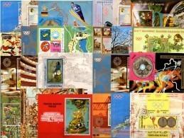 Topic-blocs Yemen 24 Blocks O 120€ Sport Olympia Theater Kunst Oper Museum Music Hb Art Olympic M/s Sheets Bf Jemen - Sellos