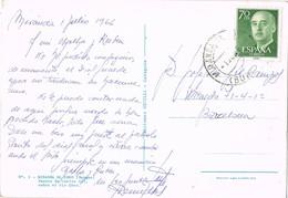 34849. Postal MIRANDA De EBRO (Burgos) 1966. Puente De Carlos III Sobre El Ebro - 1931-Hoy: 2ª República - ... Juan Carlos I