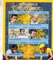Tour De France - Volta A Franca -  Bobet-AnquetilMerckx-Hinault-Cavendish  -    Mocambique 2013 6v Sheet Neuf/Mint/MNH - Cyclisme