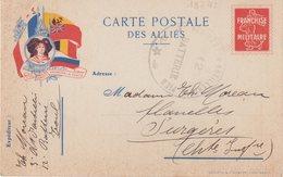 """FRANCE : CP . FM . """" LE DROIT VAINCRA LA FORCE """" . OBL . 3 E REGIMENT D'ARTILLERIE A PIED """" . - Poststempel (Briefe)"""