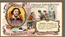 CHOCOLAT GUERIN BOUTRON   RENAUDOT LES BIENFAITEURS DE L HUMANITE - Guerin Boutron