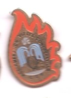 PO72 Pin's POMPIERS POMPIER VITTEL CONTREXEVILLE VOSGES ACHAT IMMEDIAT - Brandweerman