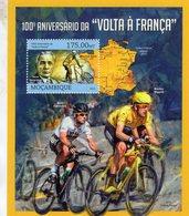 Tour De France - Volta A Franca - Henri Desgrange-Maurice Garin-Wiggins  -    Mocambique 2013 1v Sheet Neuf/Mint/MNH - Ciclismo
