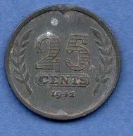 Pays Bas  - 25 Cents 1941   - Km # 174 -  état  TB+ - 25 Cent