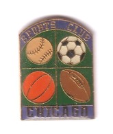 SP163 Pin's Base Ball Rugby Football Basket Sport Club Chicago ACHAT IMMEDIAT - Rugby